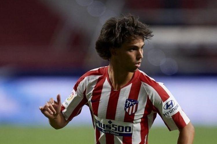 Joao Felix beraksi pada laga Atletico Madrid vs Alaves pada lanjutan Liga Spanyol yang digelar di Stadion Wanda Metropolitano, 27 Juni 2020.