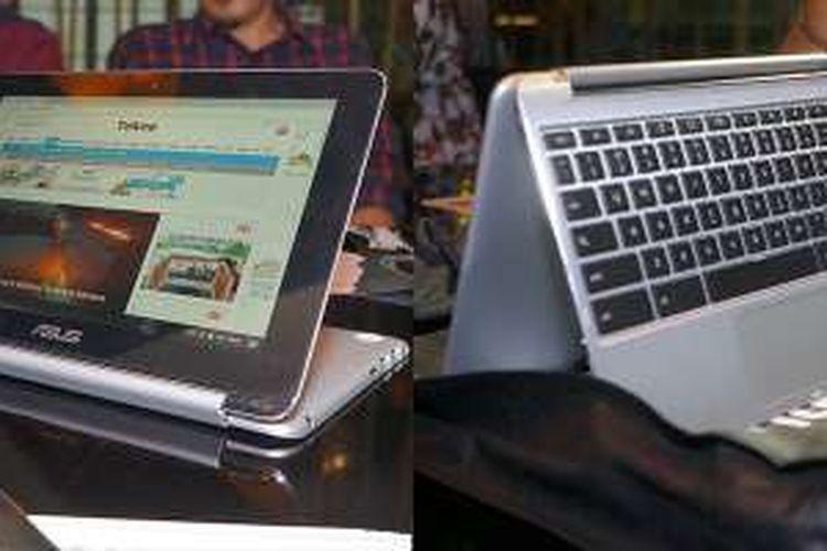 Asus Chromebook C100PA diklaim sebagai Chromebook lipat (flip) pertama dan satu-satunya di dunia