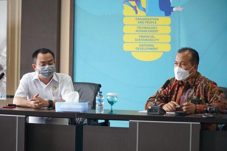 Pertemuan Anggota DPD RI dengan manajemen PLN Bangka Belitung, Rabu (3/3/2021).