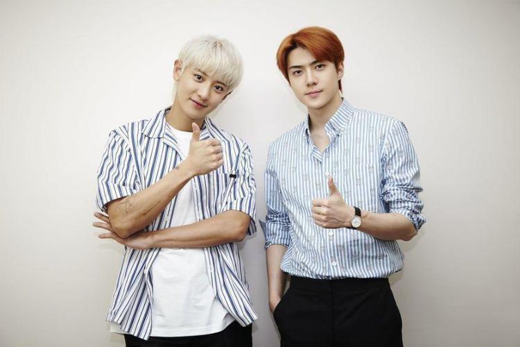 Member EXO Sehun dan Chanyeol.