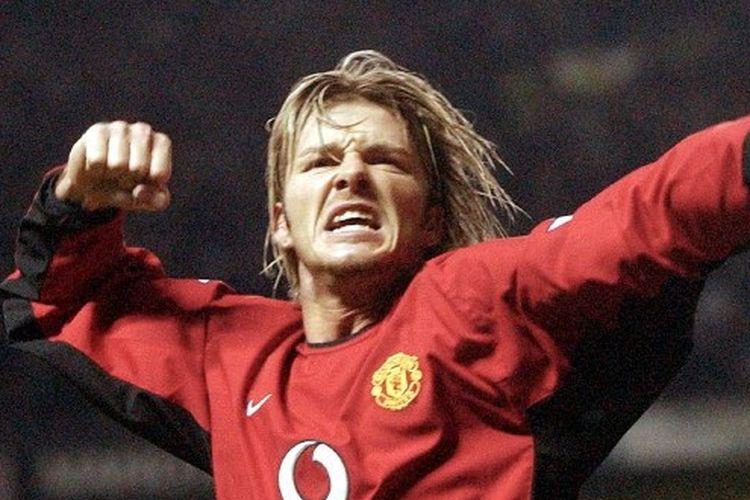 David Beckham kala masih membela Manchester United.