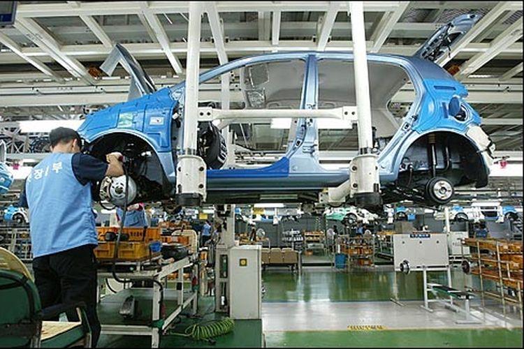 Ilustrasi pabrik Hyundai di Ulsan, Korea Selatan