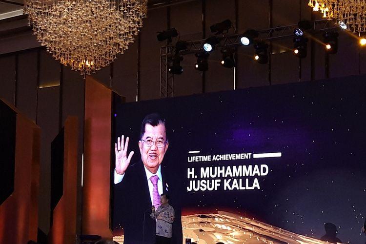 Wakil Presiden RI Periode 2014-2019 Jusuf Kallafi Jakarta, Rabu (4/12/2019).