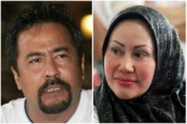 Gubernur Banten, Ratu Atut Chosiyah (kanan) dan Wakil Gubernur Banten, Rano Karno.