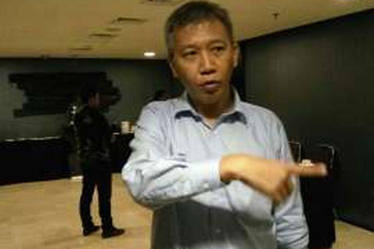 Direktur PT Transjakarta Budi Kaliwono saat ditemui di Hotel Akmani  Jakarta Pusat, Jumat (29/1/2016).