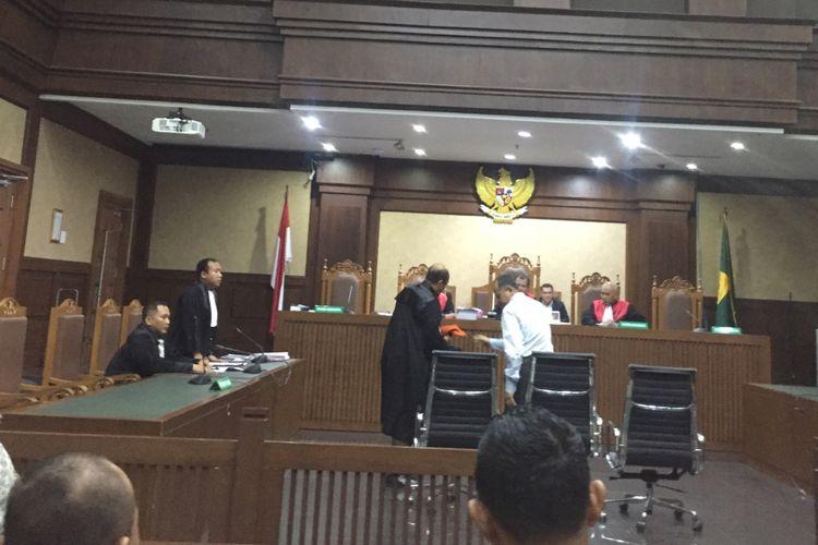 Habil Marati di PN Jakarta Pusat, Kamis (10/10/2019).