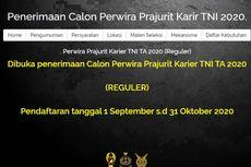 Dibuka Penerimaan Calon Perwira Prajurit Karier TNI Tahun 2020 untuk Lulusan D3-S1, Tertarik?