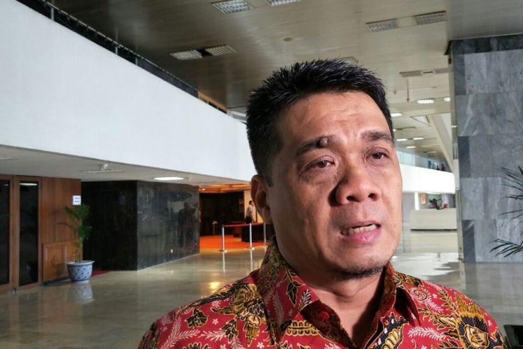 Ketua DPP Gerindra Ahmad Riza Patria di kompleks parlemen, Kamis (20/12/2018).