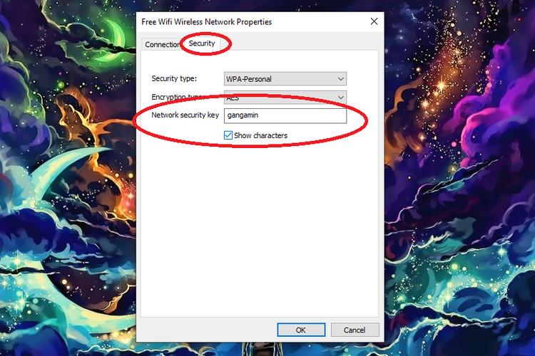 Cara melihat password wifi di PC dan laptop berbasis Windows 10 lewat fitur Wireless Network Properties.