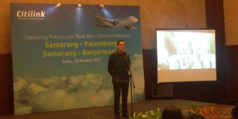 Peluncuran rute baru Citilink Semarang-Banjarmasin dan Semarang-Palembang, Sabtu (28/10/2017) malam.