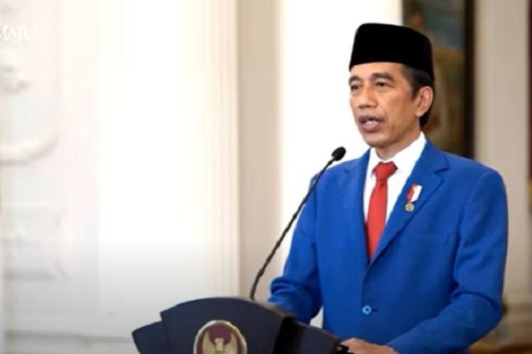 Presiden RI Joko Widodo dalam pidatonya di Sidang Umum PBB ke-75, Rabu, 23 September 2020.