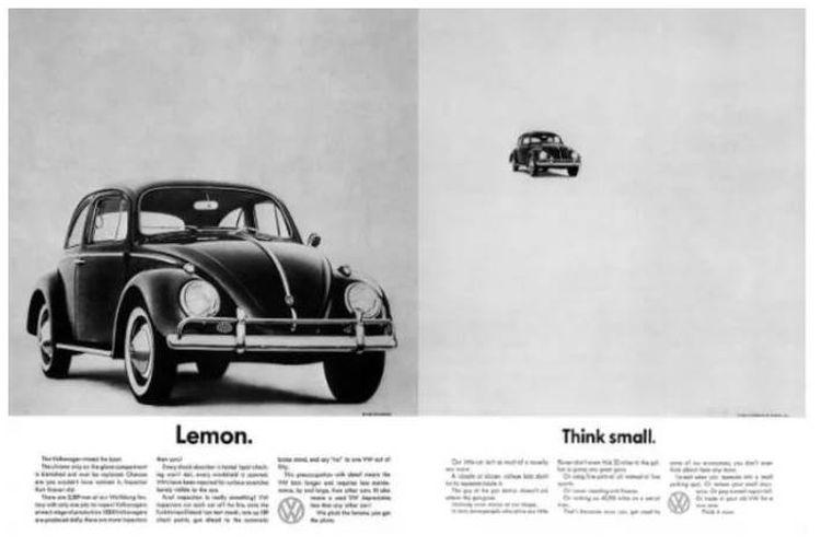 Salah satu iklan VW di Amerika Serikat