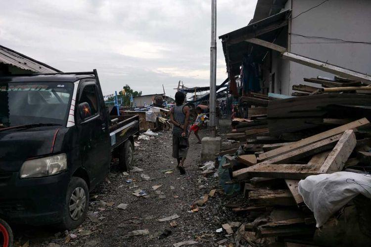 Kondisi terkini Kawasan Muara Angke, Jakarta Utara, Kamis (9/1/2020) usai rob yang sempat menerpa pagi tadi