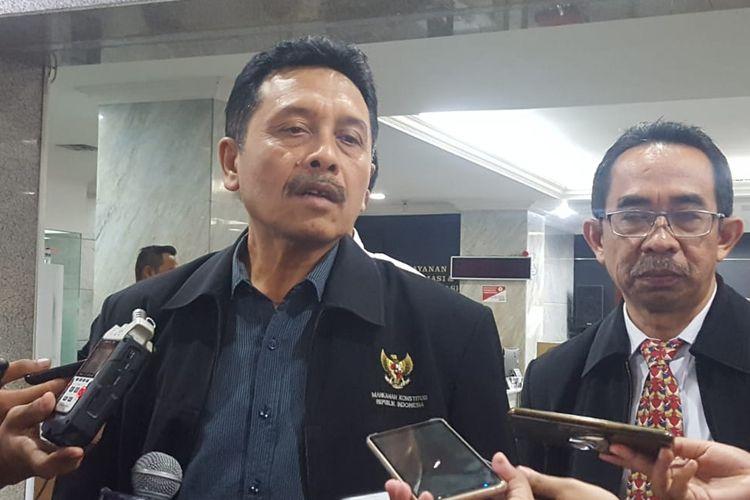 Juru Bicara Hakim Mahkamah Konstitusi I Dewa Gede Palguna di Gedung MK, Jakarta Pusat.