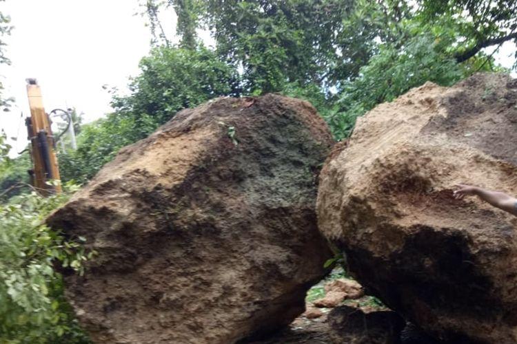 ilustrasi bongkahan batu