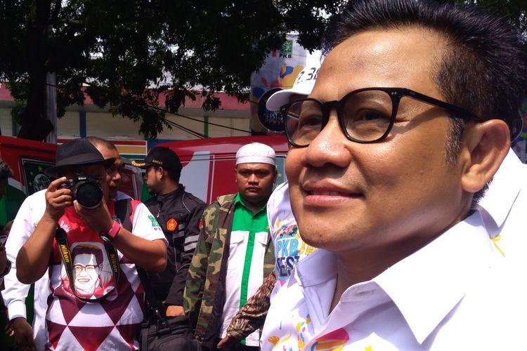 Ketua Umum Partai Kebangkitan Bangsa (PKB) Muhaimin Iskandar dalam PKB Jabar Fest for 2019 di Bandung, Minggu (2/12/2018).