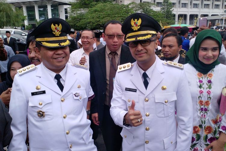 Bupati Bandung Barat Aa Umbara Sutisna bersama Wakil Bupati Bandung Barat Hengky Kurniawan.