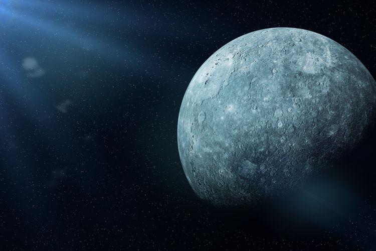 Ilustrasi planet Merkurius