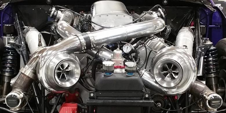 Ilustrasi mesin turbo