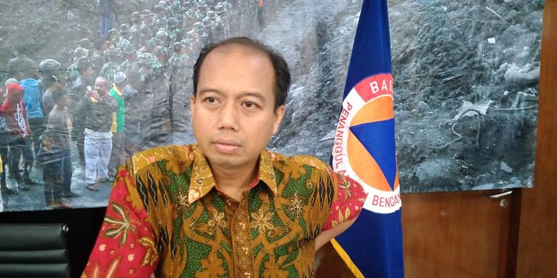 Kepala Pusat Data Informasi dan Hubungan Masyarakat Badan Nasional Penanggulangan Bencana (BNPB), Sutopo Purwo Nugroho di kantor BNPB, Jakarta Timur, Jumat (29/3/2019).