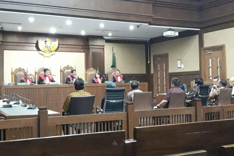 Persidangan kasus korupsi pengadaan Kartu Tanda Penduduk berbasis elektronik dengan terdakwa Irvanto Hendra Pambudi dan Made Oka Masagung di Pengadilan Tipikor Jakarta, Selasa (28/8/2018).