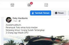 Beredar Foto Penangkapan Perampok Toko Emas di Simpang Limun Medan, Polisi: Hoaks