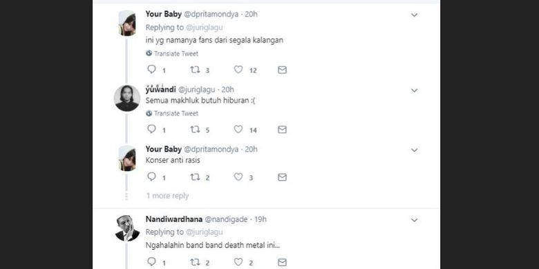 Beragam komentar netizen menanggapi unggahan Twitter @juriglagu yang menunjukkan video pesta dan dangdut di area pemakaman.