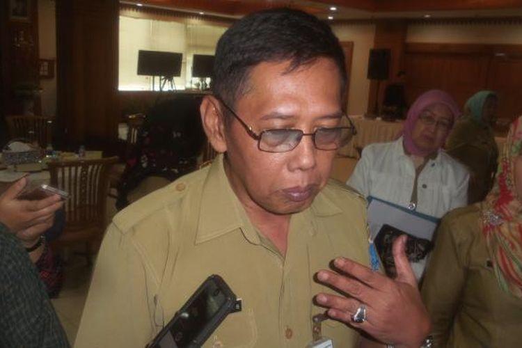 Kepala Dinas Pelayanan Pajak DKI Jakarta Agus Bambang Setyowidodo saat memaparkan mengenai realisasi penerimaan pajak sampai pertengahan Agustus 2016, di kantornya, Selasa (16/8/2016)