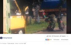 Viral, Video Prajurit TNI Bantu Orang dengan Gangguan Jiwa yang Tidur di Tengah Jalan