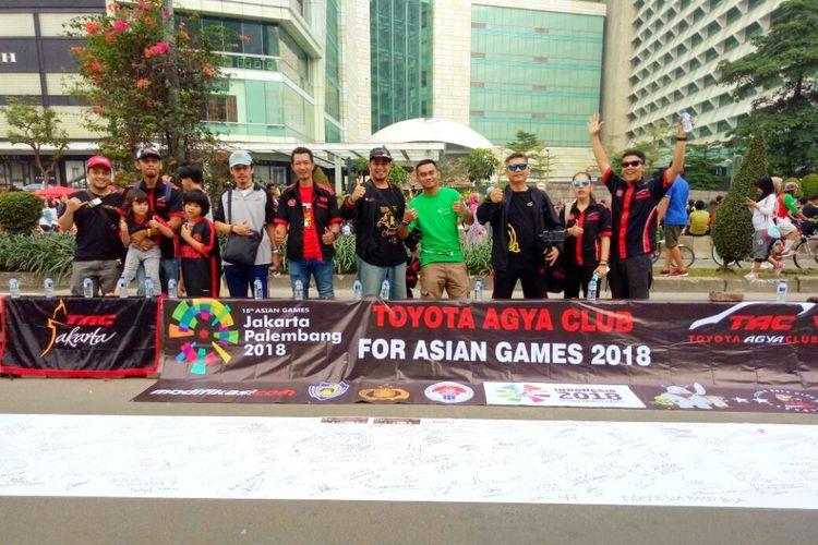 Toyota Agya Club (TAC) mendukung para atlet Indonesia yang akan berlaga di Asian Games 2018.