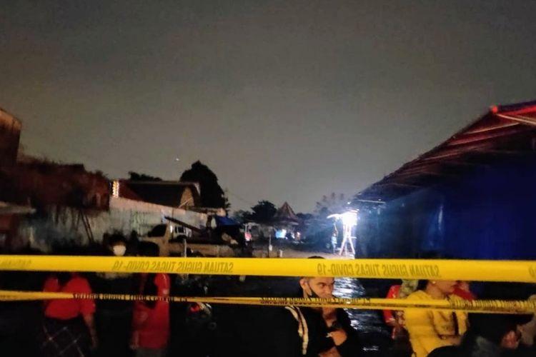 Area pasar malam di Jalan Siliwangi, Pamulang, Tangerang Selatan, Rabu (28/4/2021).