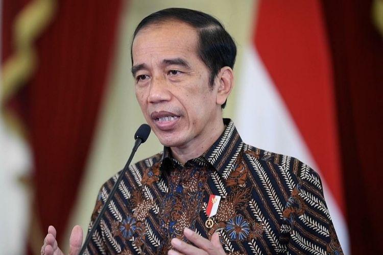 Presiden Joko Widodo memberikan sambutan dalam peringatan Hari Siaran Nasional ke-88, Kamis (1/4/2021).