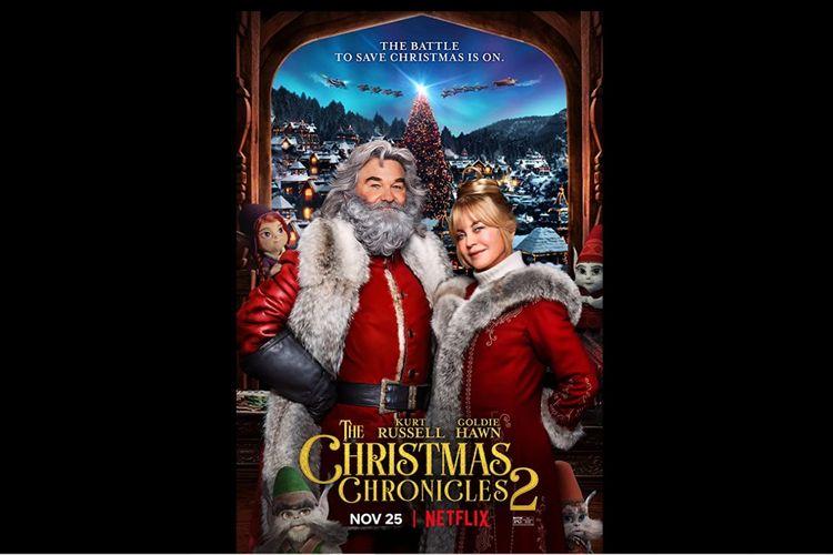 Goldie Hawn dan Kurt Russell dalam film komedi The Christmas Chronicles 2 (2020).