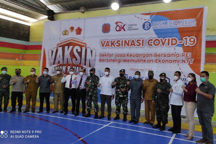 DPD Real Estat Indonesia (REI) Provinsi Nusa Tenggara Timur (NTT), menggelar kegiatan vaksinasi massal kepada ribuan warga Kota Kupang.