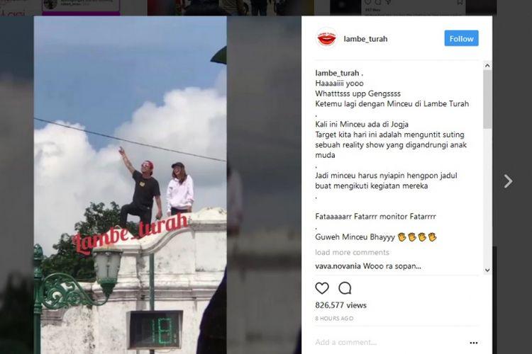 Sebuah video yang disebut-sebut sebagai proses shooting reality show yang dikecam netizen karena dianggap tidak sopan.