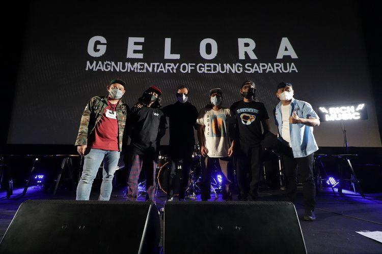 Acara Gala Premier Film Dokumenter Gelora: Magnumentary of Gedung Saparua di Bandung, Senin (7/6/2021).