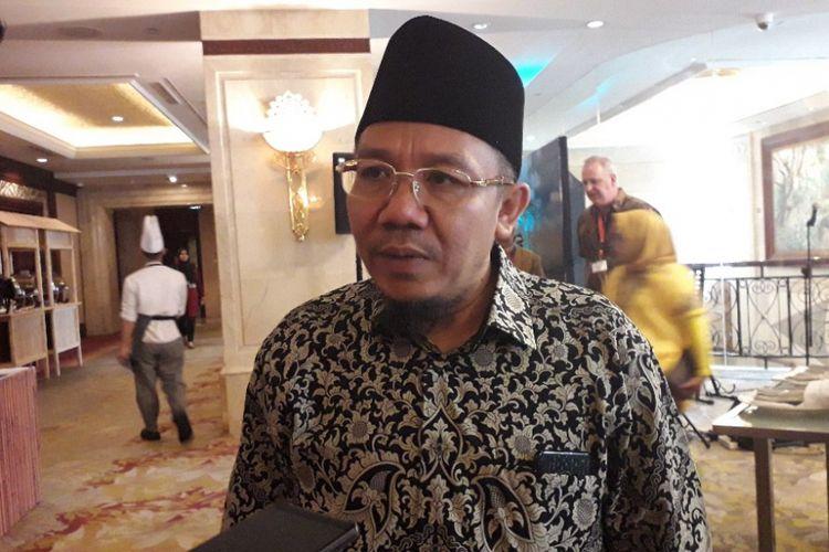 Bupati Lombok Utara Najmul Akhyar saat ditemui di Hotel Shangrila Jakarta, Senin (10/12/2018).