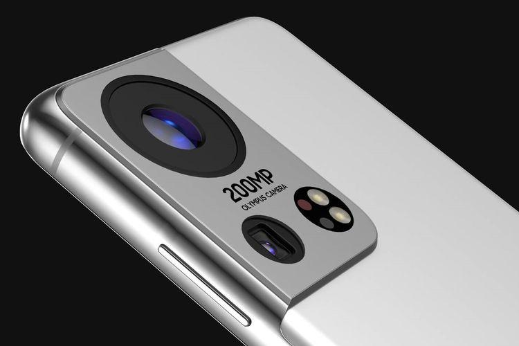 Render kamera belakang Galaxy S22.