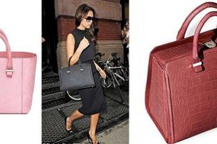 Victoria Beckham yang mendesain tas dari kulit buaya, ular, hingga burung unta asli dalam berbagai bentuk, warna serta ukuran.