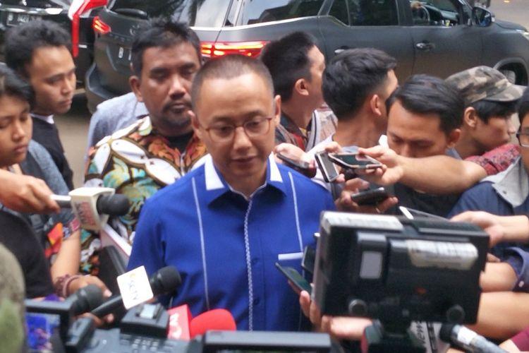 Sekjen Partai Amanat Nasional (PAN) Eddy Soeparno saat ditemui  di Jalan Kertanegara, Jakarta Selatan, Rabu (19/9/2018).