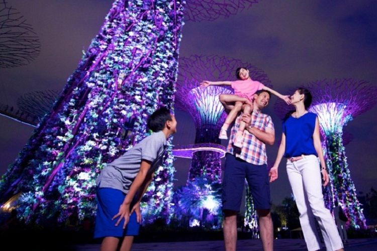 Gardens by the Bay di Singapore.