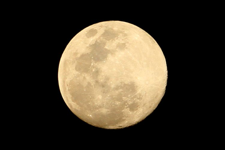 Fenomena Supermoon terlihat di Desa Alue Raya, Kecamatan Samatiga, Aceh Barat, Aceh, Rabu (6/5/2020). Fenomena supermoon terakhir pada 2020 bernama flower moon ini bisa terlihat jelas di seluruh Dunia dimana posisi bulan terdekat dengan bumi dan dapat disaksikan mulai Rabu (6/5/2020) hingga tiga hari ke depan.