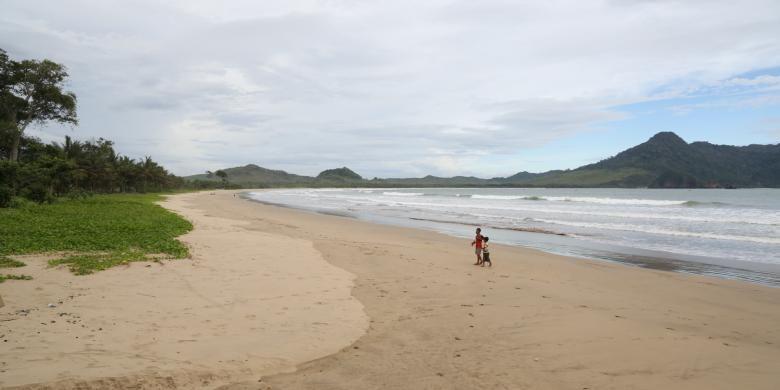 Pantai Mustika, salah satu destinasi wisata baru di yang akan dikembangkan oleh Pemkab Banyuwangi, Jawa Timur.