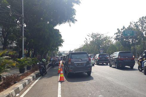 Sepekan Uji Coba, Jalur Sepeda di Jalan Pemuda Masih Jadi Tempat Parkir Motor