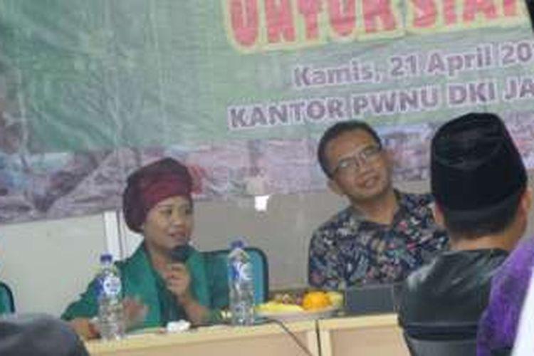 Aktivis perempuan Luluk Nur Hamidah (kiri) dan pengamat tata ruang dan kota Yayat Supriatna (kanan).