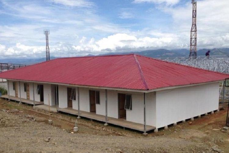 Pembangunan hunian sementara (huntara) di Sulawesi Tengah.