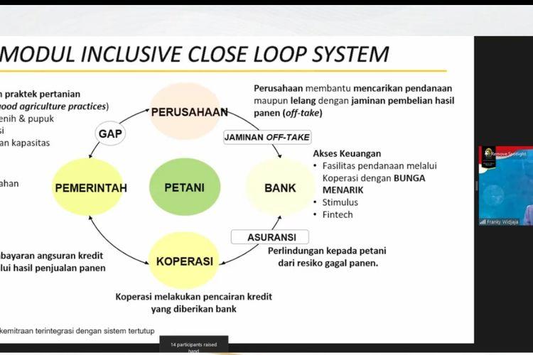 Webinar bertajuk Covid-19 dan Percepatan Pemulihan Ekonomi 2021 yang diselenggarakan Majelis Wali Amanat (MWA) Universitas Indonesia (UI) pada Rabu (27/1/2021).