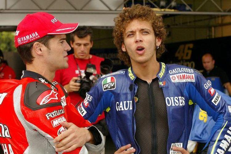 Charlos Checa dan Valentino Rossi