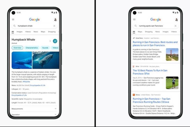 Google mendesain ulang tampilan hasil pencarian Google Search versi mobile.