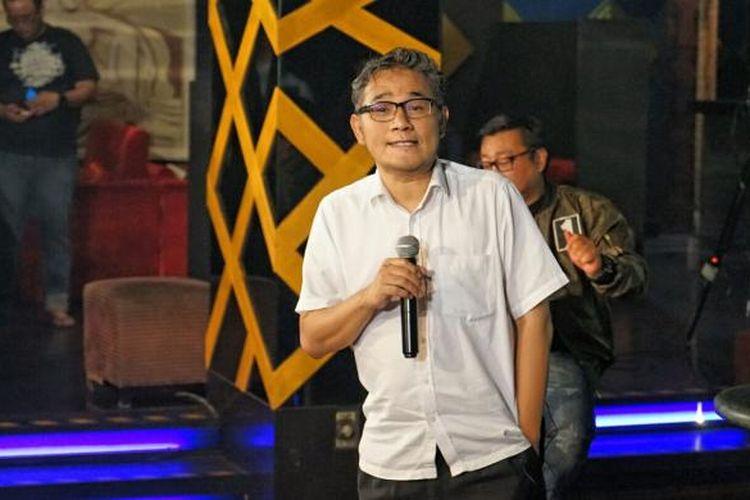 Politisi PDI P Budiman Sudjatmiko dalam sebuah acara debat terbuka di bilangan Wijaya II, Jakarta Selatan, Sabtu (7/1/2017).
